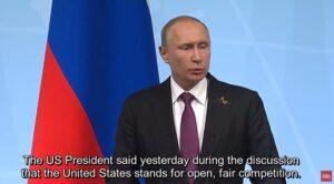"""Poetin: """"Ons aardgas is goedkoper dan dat van Amerika"""""""