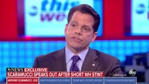 """Scaramucci: """"Mensen in het Witte Huis willen Trump weg hebben"""""""