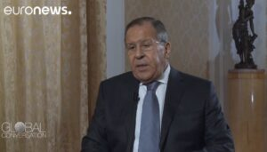 """Lavrov: """"Russische dreiging is excuus voor Amerikaanse dominantie in Europa"""""""
