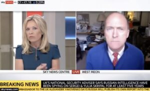 Sky News breekt interview met voormalig Britse generaal af