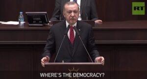 "Erdogan: ""Waar is de democratie?"""