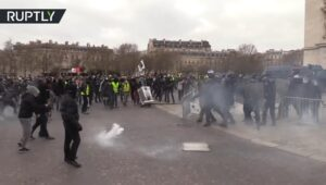 Opnieuw grootschalige demonstraties gele hesjes in Parijs