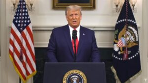 Trump beklaagt zich in nieuwe toespraak over verkiezingsfraude